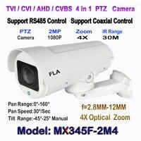 1080P TVI CVI AHD Switch PTZ Camera Outdoor 4X 10X Optical Zoom 2 8 12MM 5