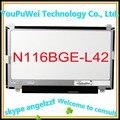 """Бесплатная доставка 11.6 """"жк-экран ноутбука B116XW03 V.2 N116BGE-L42 Для Acer Aspire One 722 725 (вверх и вниз отверстие) ноутбук"""