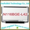 "Free shipping 11.6"" Laptop lcd screen B116XW03 V.2 N116BGE-L42 For Acer Aspire One 722 725 (up and down screw hole) notebook"