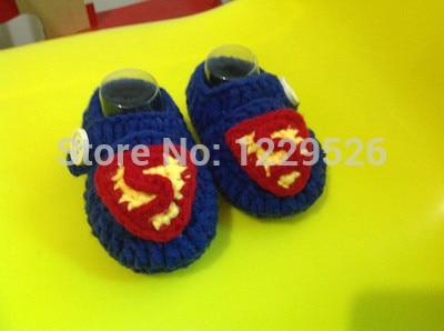 Foragtelige mig minions lille gule mand og superman baby støvler støvler hæklet booty hæklet strikket spædbarn strik sko støvler