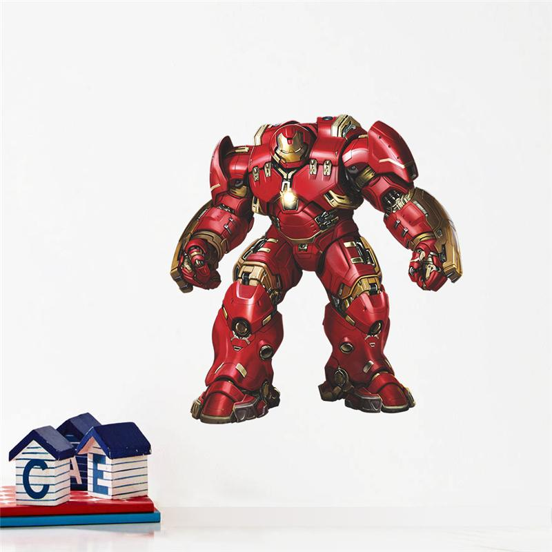 Iron Man Robot Pattern Wall Stickers For Kids Room