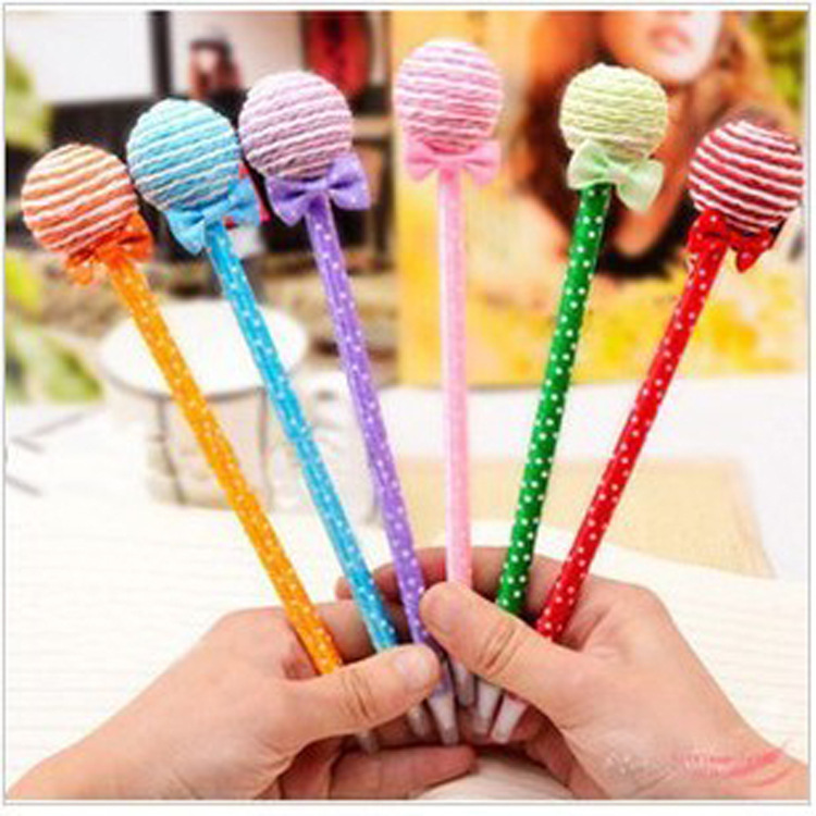 QSHOIC  50pcs/set Kawaii Korean Stationery School Office Supplies Kids Novelty Pens / Cute Lollipop gel Pen / gel Pen 3 piece korean stationery kawaii cute kitty pen advertising creative bent school office gel pens
