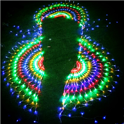 New Year Garland LED Christmas Lights Outdoor Party Cristmas Decoration Peahen LED Net String Fairy Lights Luces De Navidad iwhd 6x3m waterfull garland christmas lights outdoor indoor 220v new year cristmas decoration led fairy lights luces de navidad
