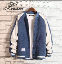 Xnxee mens jacket autumn 2019 Korean version of denim Slim trend fashion baseball shirt clothing