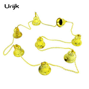 urijk golden decoration colors bell hanging ornament 1pc - Large Plastic Christmas Bell Decorations