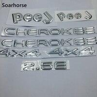Soarhorse 7pcs Set For Jeep Cherokee 4x4 2 5E Letter Logo Car Body Emblem Badge Name