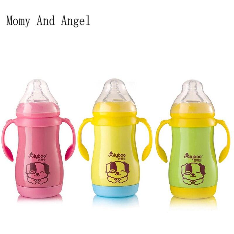 Mamá y Ángel BPA libre de acero inoxidable botella 280 ml bebé ...