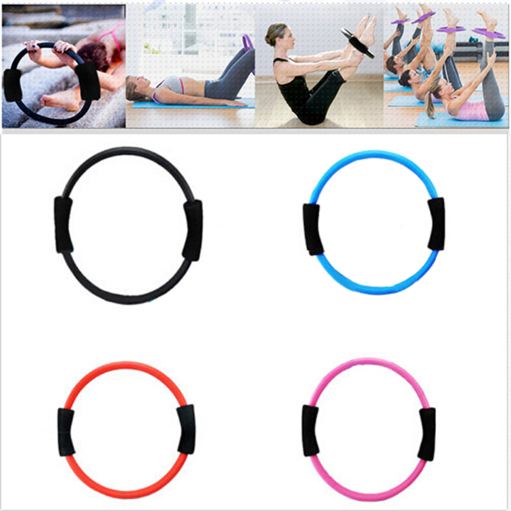 New 39cm Sport Fitness Magic Resistance Ring Circle for Women Yoga Pilates Yoga Rings Fitness Exercise Tools