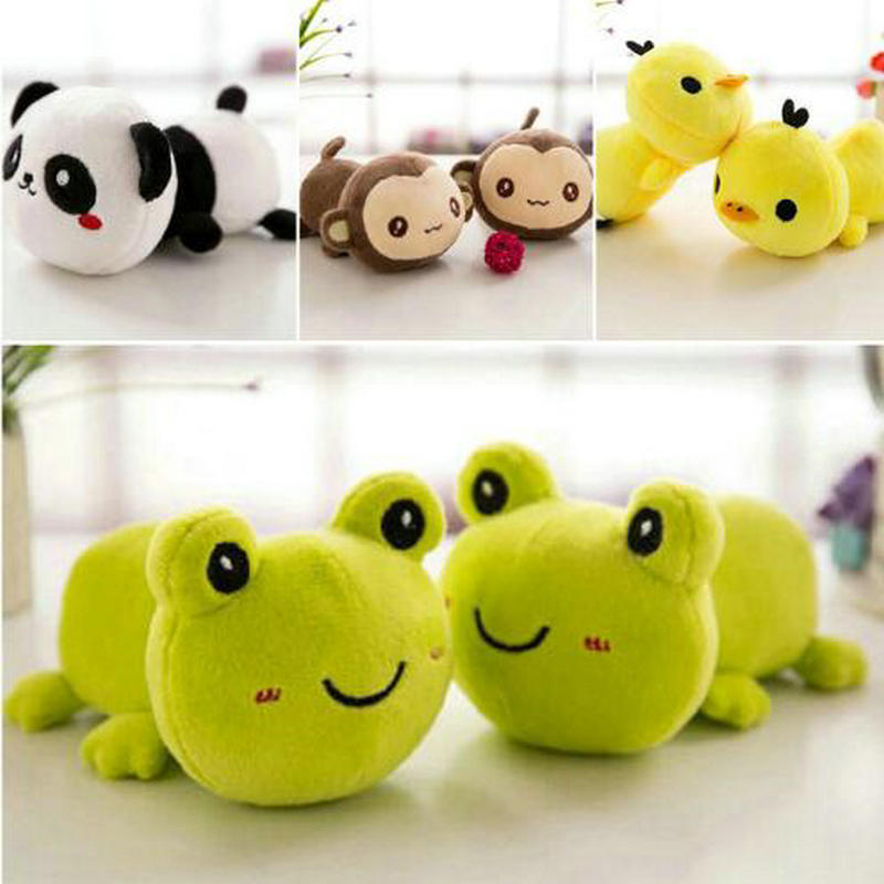 15cm Frog/panda/Duck/monkey Doll Christmas Present Kids Toys Cute Car Doll Stuffed Bamboo Animals Plush Toys