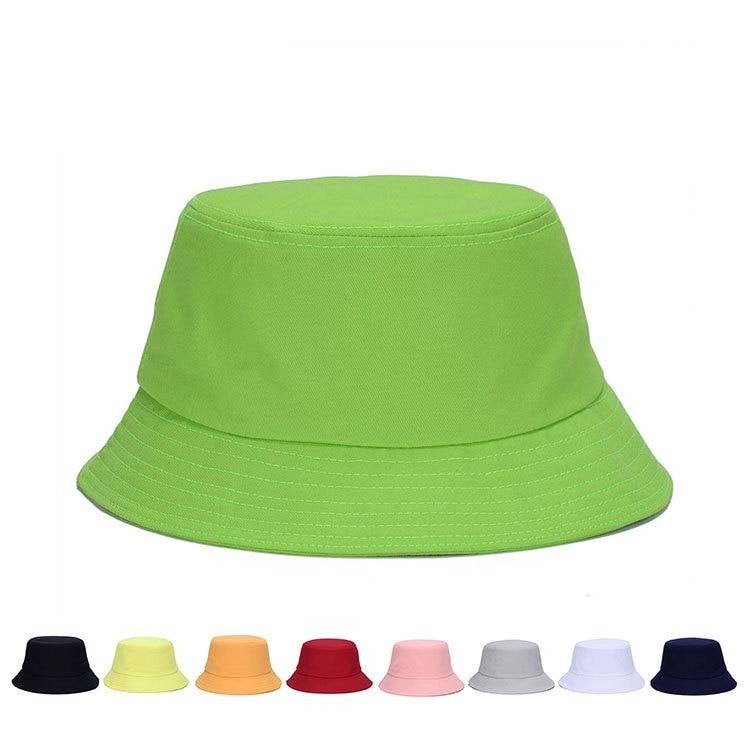 f8e81b79d910d Women Men Solid color Genuine Basin Cotton Padded Caps Bucket Hat Fisherman  Bonnie Bob Hunting Hat leisure hats