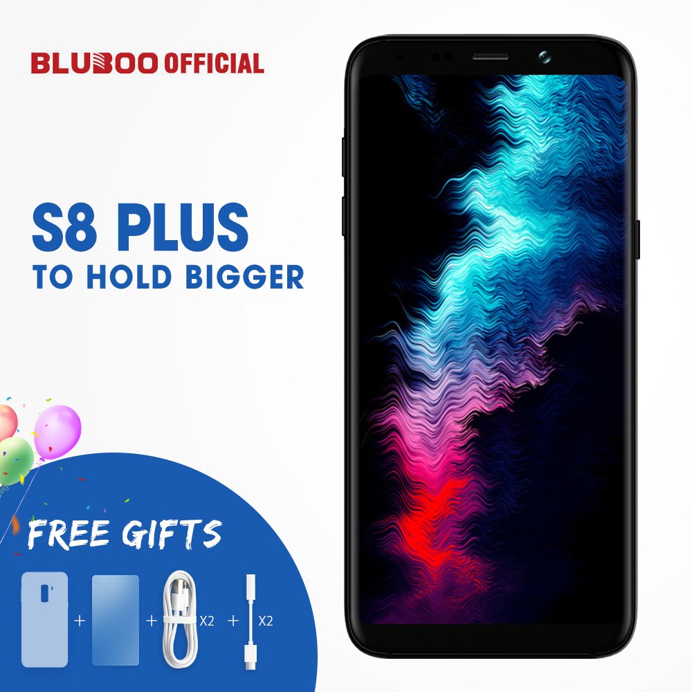 BLUBOO S8 Più 6.0 ''18:9 Smartphone MTK6750T Octa Core 4G RAM 64G ROM Android 7.0 Dual Fotocamera Posteriore di Impronte Digitali Cellulare telefono