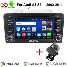 MJDXL Ocho Core Android 6.0 Coche DVD GPS Navi para Audi A3 2002-2011 con WIFI 4G BT de Radio Control Del Volante Canbus