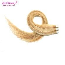 Blonde Brazilian Virgin Hair 20pcs/lot Tape In Skin weft Hair Extensions Seamless Straight  Double Wefted Tape Hair Extensions