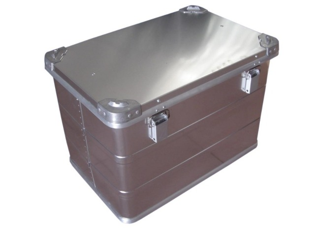Silver Waterproof Aluminum Storage Container With Lock for Packing
