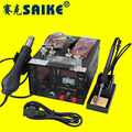 high qualkity 3 in 1 Saike 909d Hot air guns soldering station power supply 3 in 1 multi-function 220V or 110V