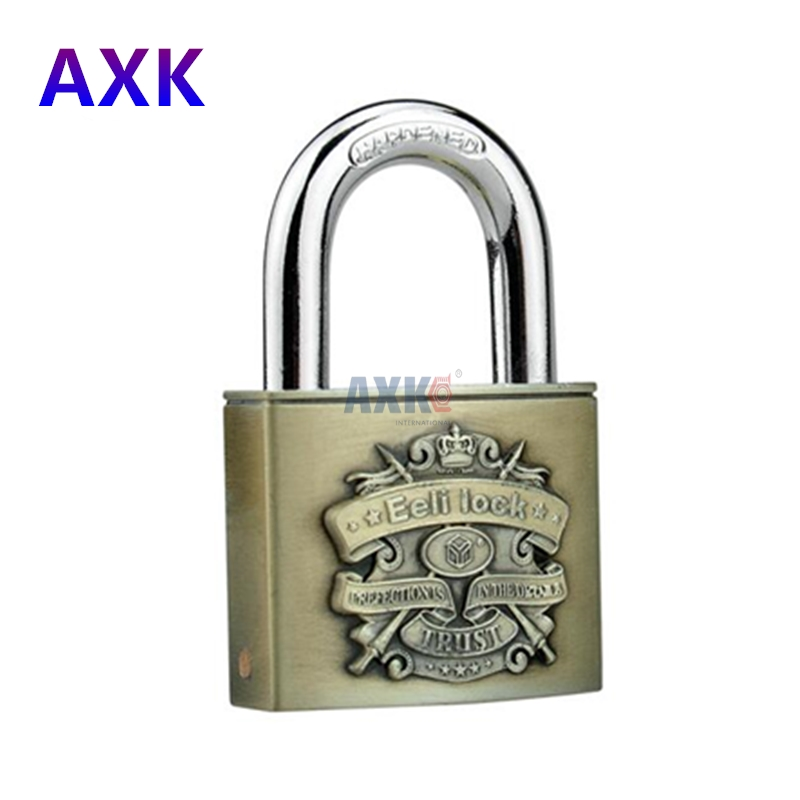 C-class bronze 50mm half bag blade padlock lock core anti-theft anti-rust bronze waterproof door lock for furniture hardware waterproof anti rust padlock anti theft lock with keys for dormitory cabinet drawer warehouse iron gate