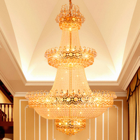 Modern Chandelier Gold Crystal Chandeliers Lights Fixture Hotel Home Indoor Lighting LED Lamp Hanging Light D1m