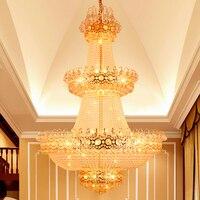 Modern Chandelier Gold Crystal Chandeliers Lights Fixture Hotel Home Indoor Lighting LED Lamp Hanging Light D1m