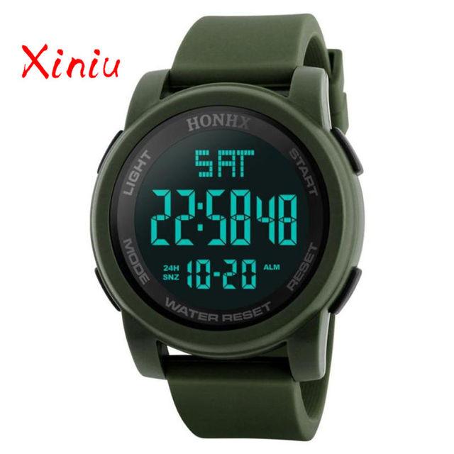 Watches Men Wrist 2018 Erkek Saat Watch Men Silicone Led Electronic Watch Luxury Digital Clock Sports Run Drop Shipping