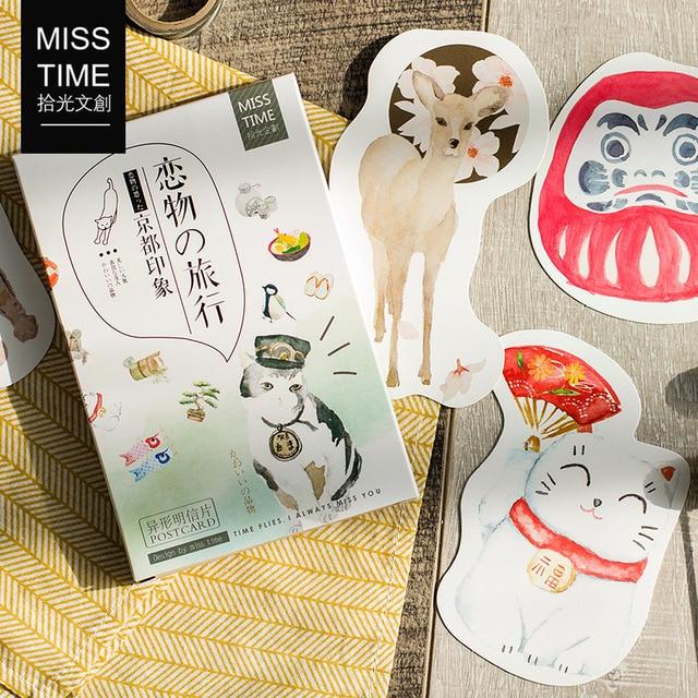 30 Feuilles SET Japonais Impression Carte Postale Tokyo De Voeux