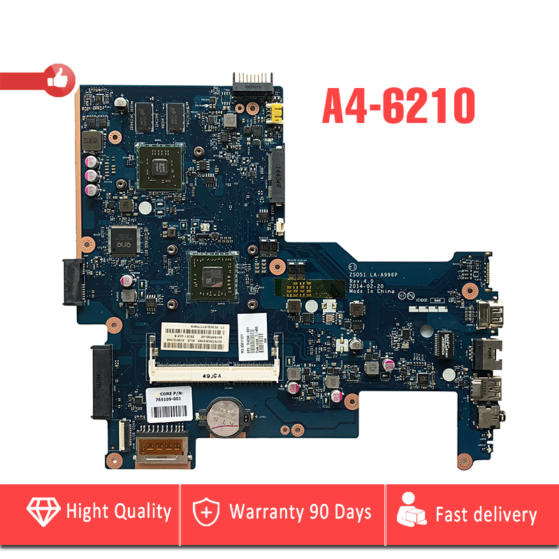 цена YTAI A4-6210 processor for HP Pavilion 15-G laptop motherboard LA-A996P REV4.0 with A4-6210 processor DDR3 mainboard 100% Tested