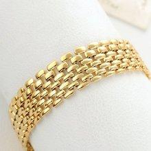 Браслет на запястье с широкой сеткой золотистый желтый 83 дюйма