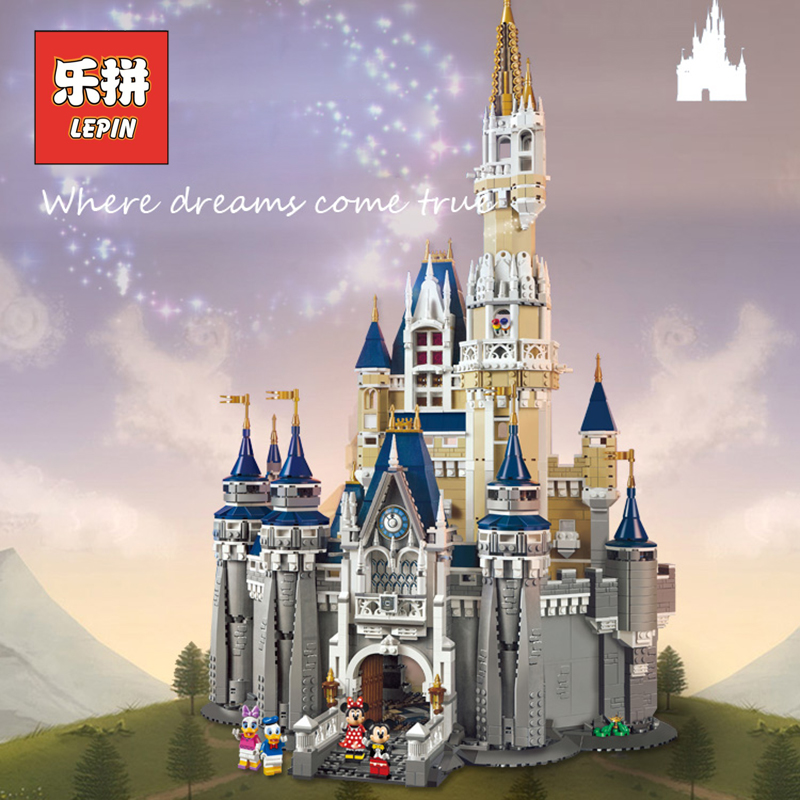 Galleria fotografica DHL Lepin 16008 City Modern Building Kits the Cinderella Princess Castle Blocks Kid Toy <font><b>Legoinglys</b></font> <font><b>Friends</b></font> Gift Compatible 71040