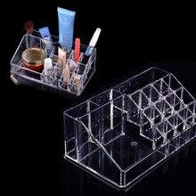 22.3 x 12.7 x 8cm Transparent Crystal Cosmetic Organizer Makeup Jewelry Lipstick Stand Case Brush Insert Holder Box цена и фото