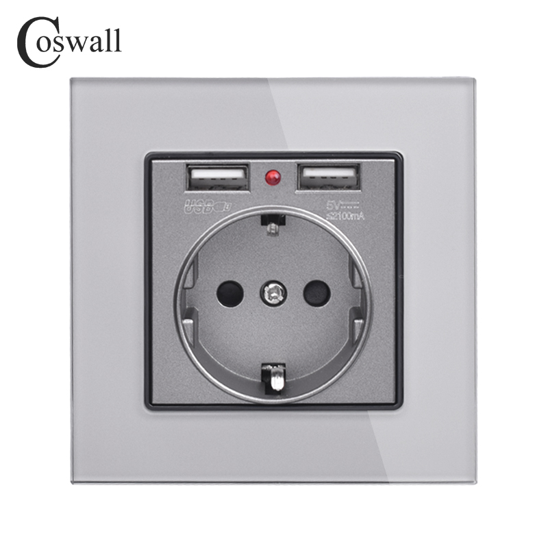 coswall-crystal-glass-panel-dual-usb-charging-port-21a-16a-russia-spain-wall-socket-eu-power-outlet-white-black-gold-grey
