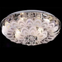 Manggic Pea Round Crystal For Living Room Interior Ceiling Light Fixture Led Bulb