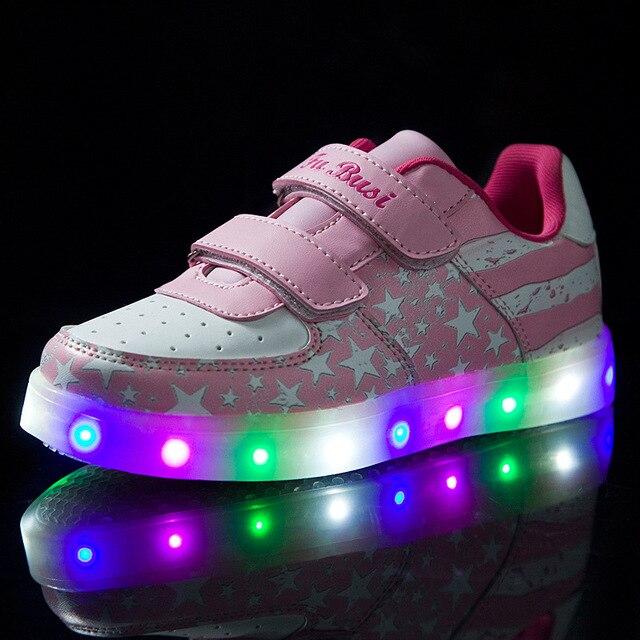 La lumineuse LED lumineux coloré charge des chaussures légères USB coréenne EvYPq