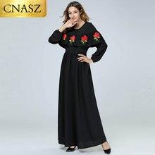 2018 UEA Abaya Kaftan Gamis Dubai Denim Bordir Hijab Muslim Wanita Jilbab  Arab Bangladesh Islam Turki Pakaian 5c6ee41895