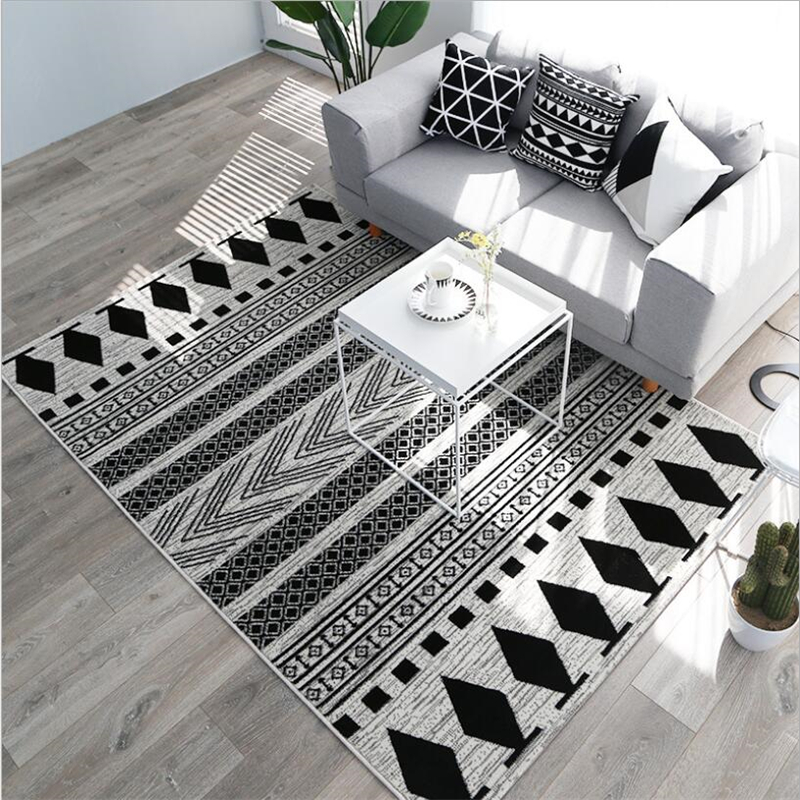 Hot Sale Fashion Nordic Style Carpets For Living Room Bedroom Kid Room Rugs Thicker Delicate Home Carpet Floor Door Mat Area Rug