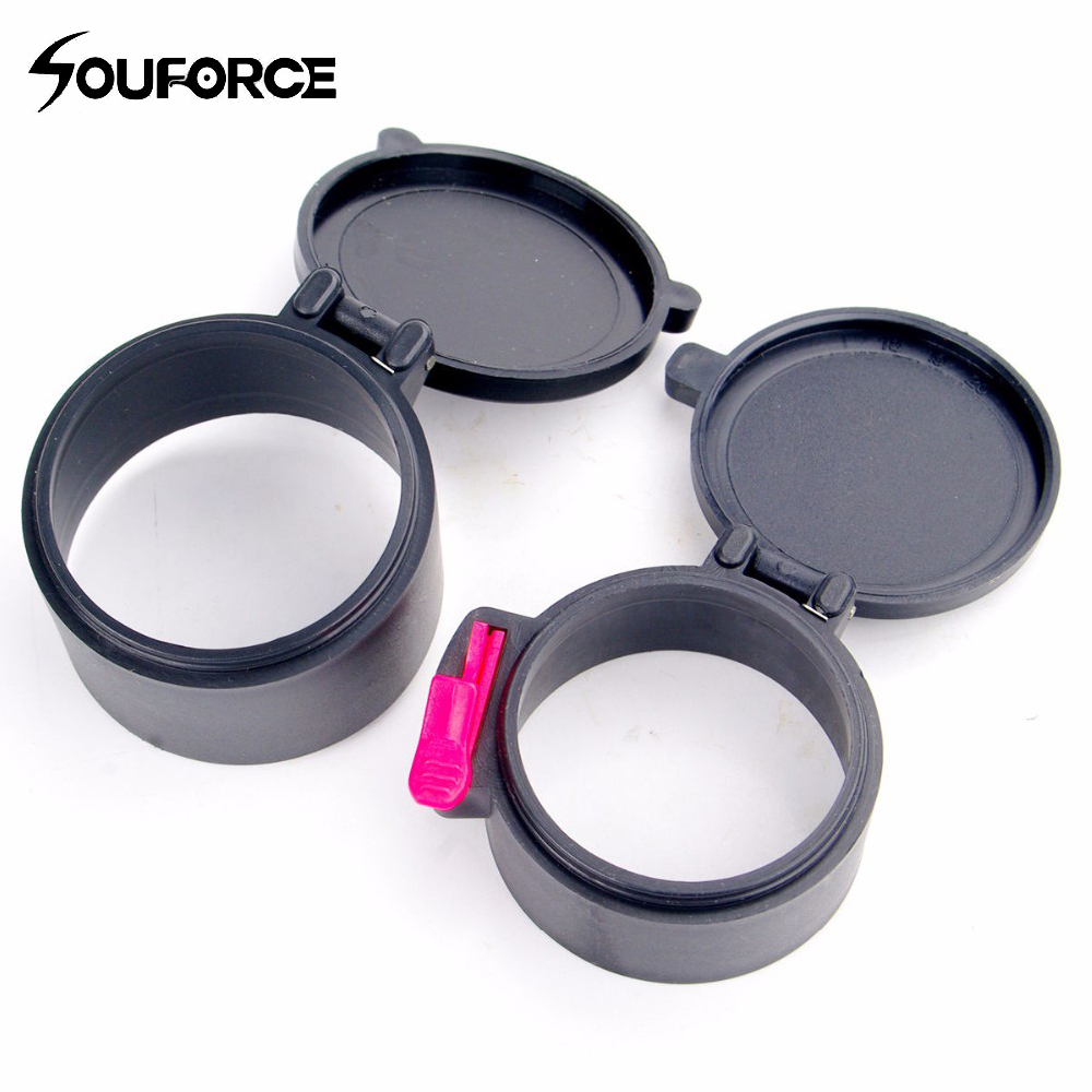 High Quality 48mm&42mm Gun Scope Lens Cover For 40mm Rifle Sight Dustproof Caps For Scope Hunting Gun Anti-dust Accessory