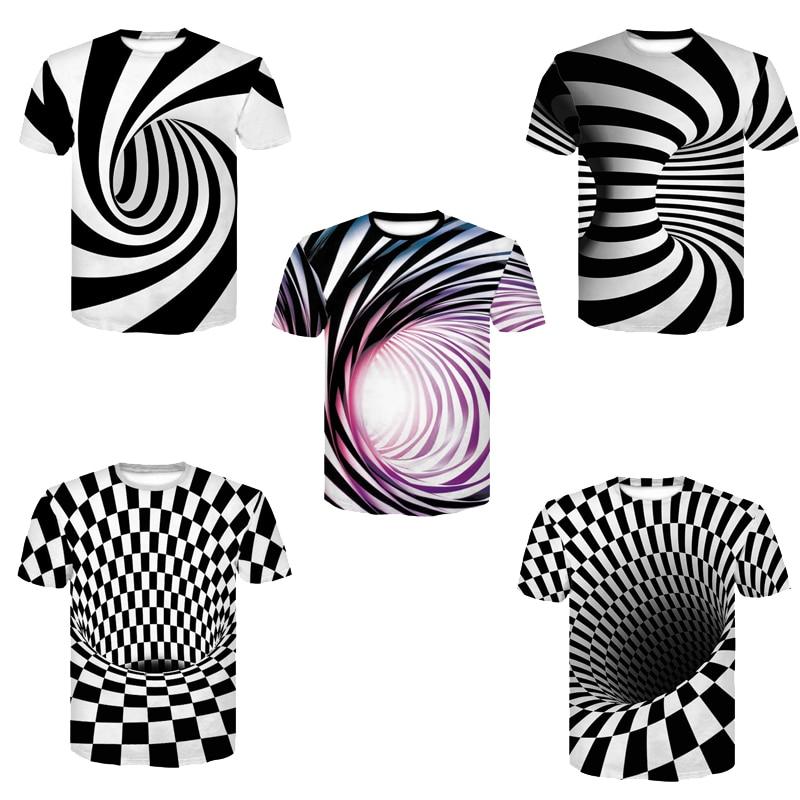 Devin Du Vortex 3d T Shirt Men Women Whirlpool Print Funny Summer Top Hip Hop Streetwear Camisetas Hombre Tee Shirt Homm
