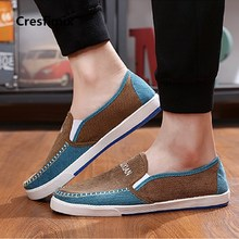 Cresfimix male fashion plus size cotton fabric spring & summer slip on shoes men cool comfortable driver shoes man's shoes a2762