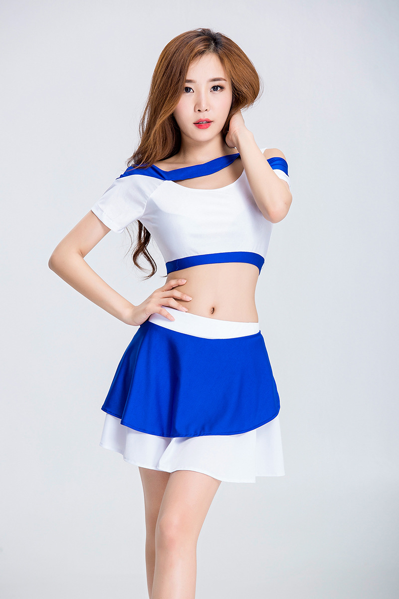 Women's Cheerleading Costume Soccor College Style Cheerleading Costume High School High School Girl Uniform Adults Halloween Cos