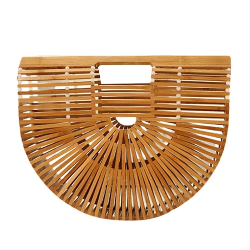 Women Bamboo Beach Handmade Hollow Straw Wicker Tote Ladies Bohemia <font><b>Handbags</b></font> Hot Bag For Women 2018