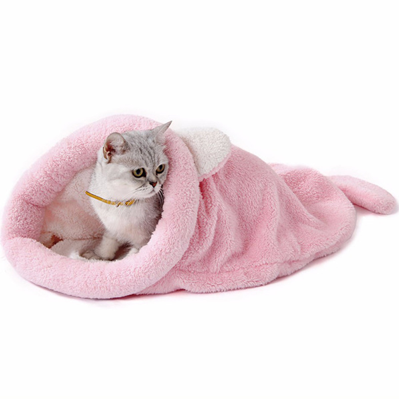 Kat Slaapzak Self-warming Kitty Sack Warme Fleece Huisdier Bed Huis Voor Mini Varken Speelgoed Poedel Kat Lounger Banken Vier Kleuren Op Reis