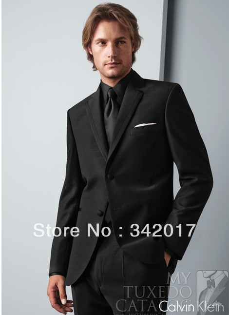 2014free shippinp Groom Tuxedos suits BLACK 'ROME' TUXEDO colour ...