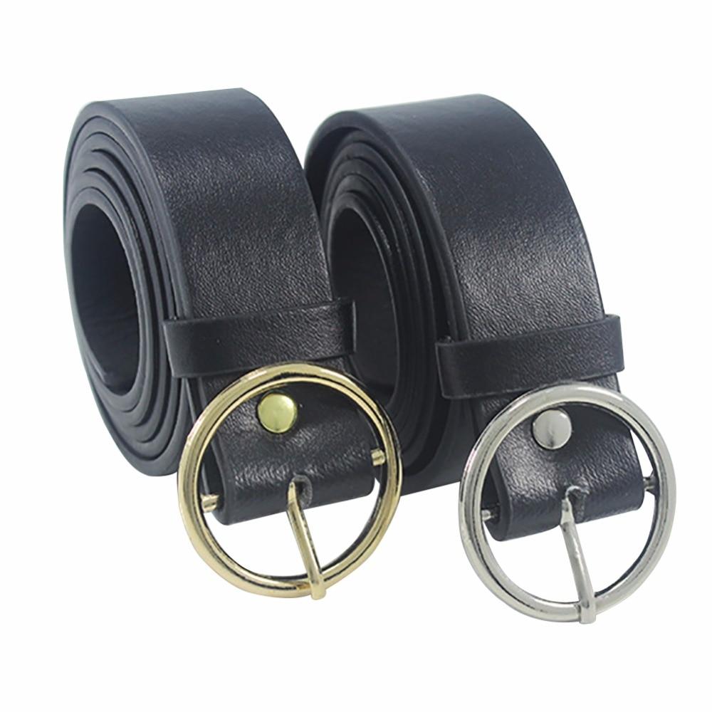 2017 Unisex Round Metal Circle Belts Hot Designer  Brand Punk O Ring belt for Women