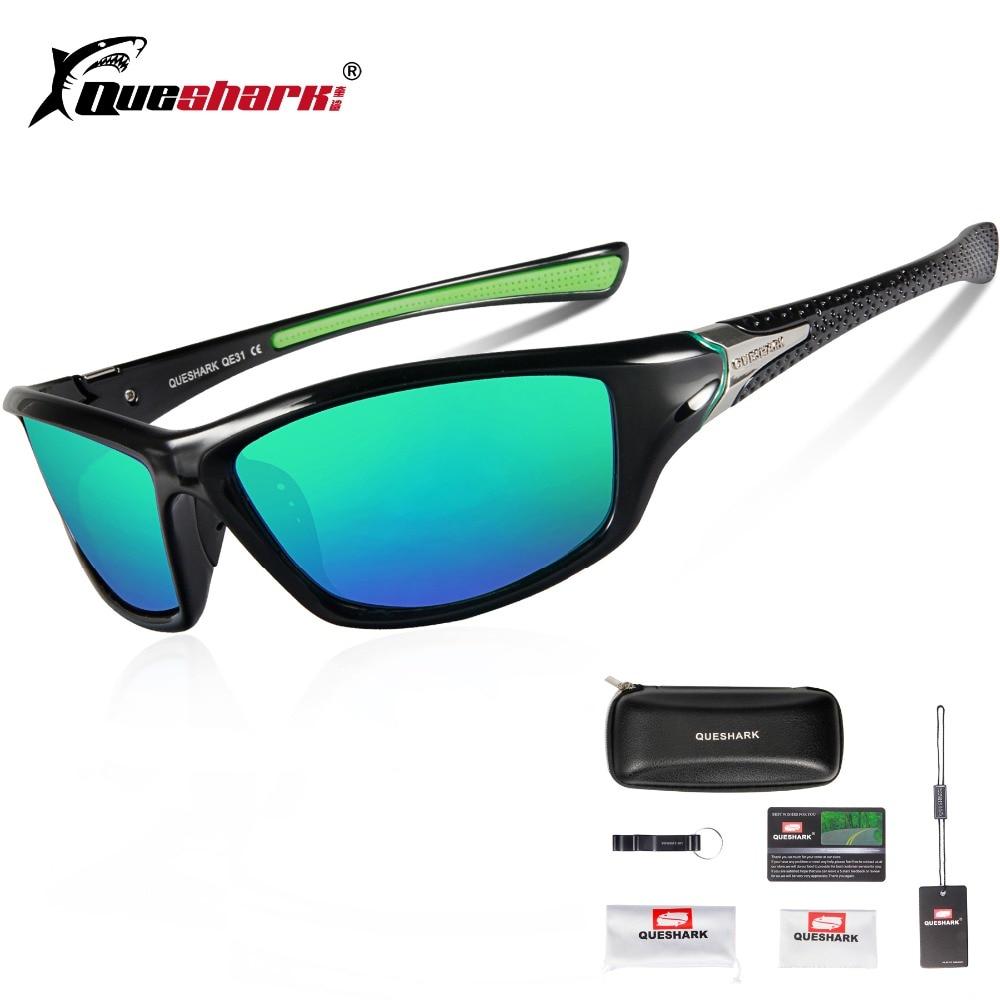Queshark Men Women Lightweight Polarized Cycling Sunglasses Sport Glasses Fishing Climbing Hiking Running Skiing Cycling Eyewear