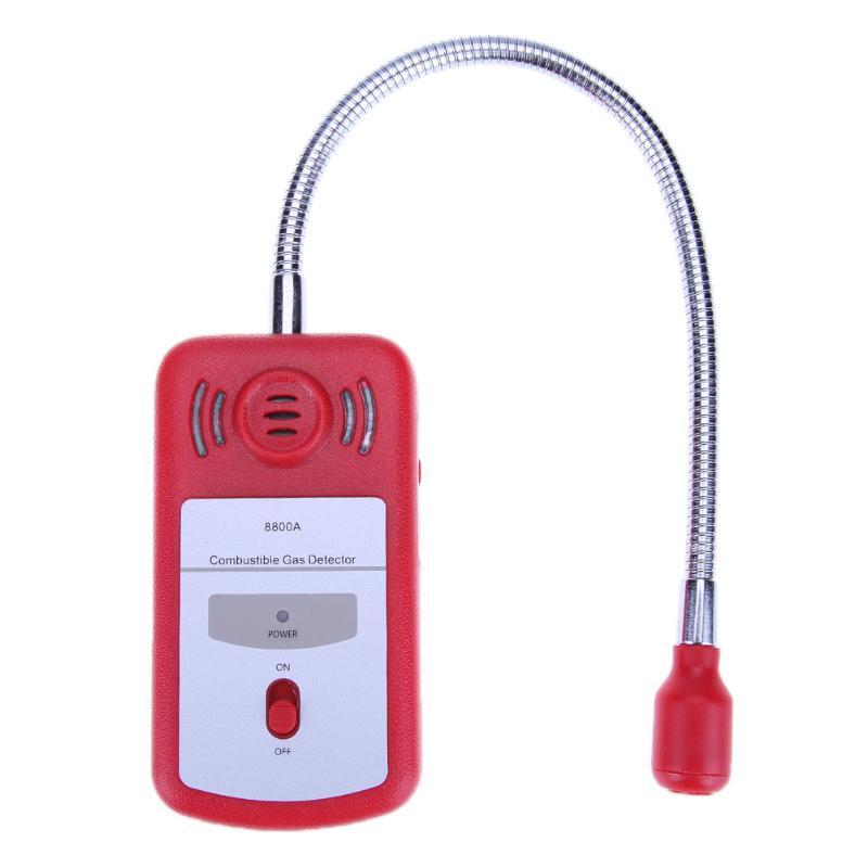 8800A Sensible Utile Analyseur De Gaz Combustibles Détecteur de Gaz de Fuite de Gaz Portable Emplacement Déterminer Testeur avec D'alarme Sonore lumière