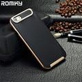 Romiky plástico de silicona armor case para apple iphone 7 plus 6 s 5S 5 SÍ 4S 4 6 PLUS SE completa protección a prueba de golpes TPU cubierta de bolsas