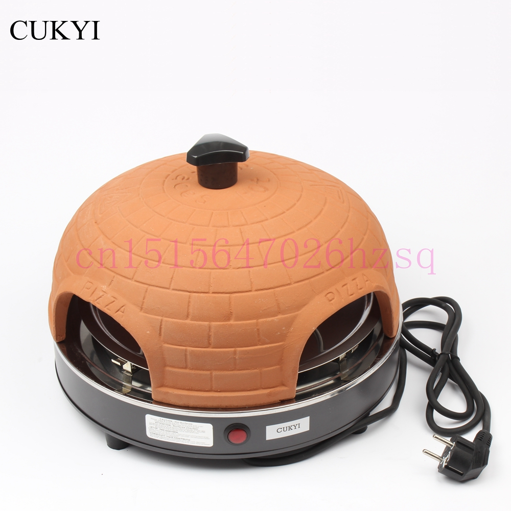 CUKYI household Four people electric pizza stove mini baking oven roast meat 800W pfml nb400 stainless steel high temperature deck baking pizza oven machine for pizza shop