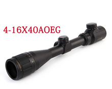 Hunting 4-16x40 Scope Red Green Dot Sight Scope Illuminated Telescopic Scope Tactical hunting sight sight free shipping