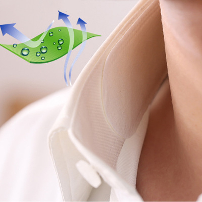 6pcs/lot Womens Mens Summer T-shirt Collar Sweat Sticker Disposable Armpit Sweat Pads Absorbing Sweat Pad Anti Deodorants