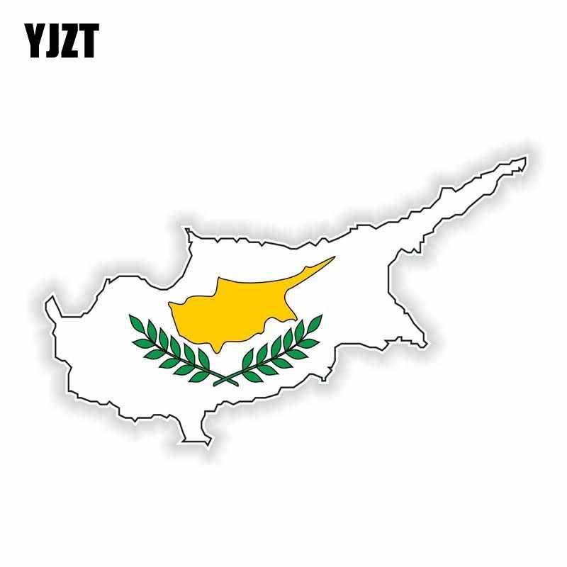 YJZT 14 см * 6 см, Автомобильный флаг, наклейка на шлем, автомобильные аксессуары, карта, наклейка 6-0912