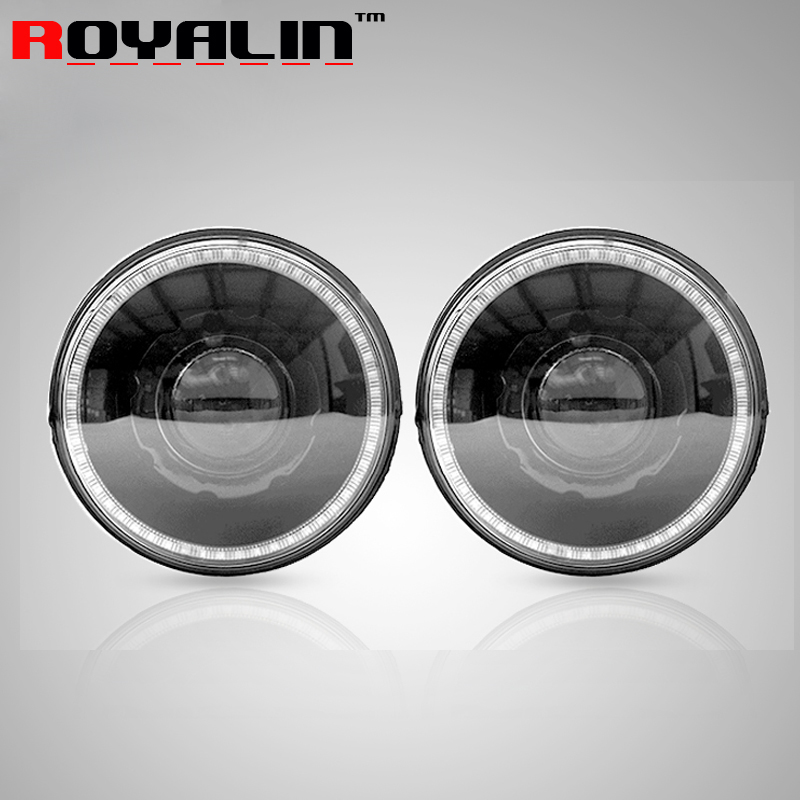 7 for 07-15 Jeep Wrangler JK Headlights No Error with Automobiles DRL Hi/Lo Q5 Bi Xenon Lens LEDs Angel Eye for D1S D2S/R Lamps windshield pillar mount grab handles for jeep wrangler jk and jku unlimited solid mount grab textured steel bar front fits jeep