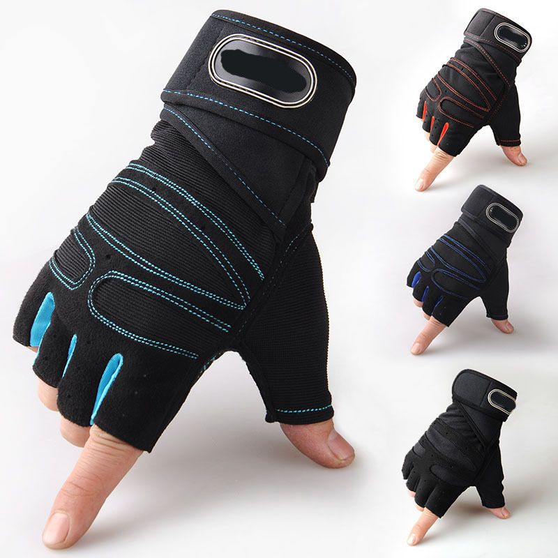 Women S Fitness Gloves With Wrist Support: Men & Women's Gym Fitness Gloves With Wrist Wraps Support